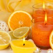 Romantic lighted candles close up — Stock Photo #29533669