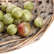 Ripe gooseberry isolated on white — Stock Photo #29533731