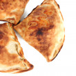 Pizza calzones isolated on white — Stockfoto