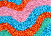 Bunte kristalle von meersalz hautnah — Stockfoto