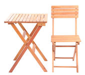 Wooden table with chair — Stock Photo
