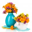 Stock Photo: Bouquets of marigold flowers isolated on white