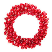 Fresh cornel berries isolated on white — Stock Photo