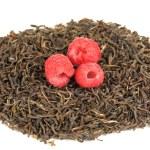 Berry dry tea isolated on white — Stock Photo