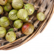 Ripe gooseberry isolated on white — Stock Photo