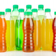 Assortment of bottles with tasty drinks, isolated on white — Stock Photo #29627151