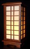 Japanese table lamp on black background — Stock Photo