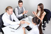 Group of business people having meeting together — Stock Photo