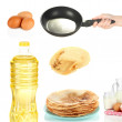 Ingredients for cooking pancakes — Stock Photo