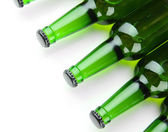 Bottles of beer isolated on white — Stock Photo