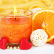 Romantic lighted candles close up — Stock Photo #29681145