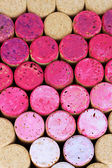 Pink wine corks close-up background — Stock Photo