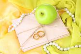 Conceptual photo wedding in apple style — Stock Photo