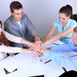Business team working on their project together at office — Stock Photo #29760051