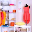 Women wardrobe in sunny colors — Stock Photo
