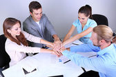 Business team working on their project together at office — Stock Photo