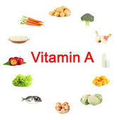 Products which contain vitamin A — Stock Photo