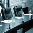 Stock Photo: Meeting room in office center in shades of grey