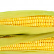 Stock Photo: Crude corns isolated on white