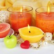 Romantic lighted candles close up — Stock Photo #29907403