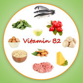 Products which contain vitamin B2 — Stock Photo