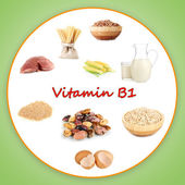 Products which contain vitamin B1 — Stock Photo