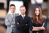Business partners at conference hall — Stock Photo