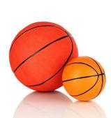 Basket balls, isolated on white — Stock Photo