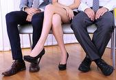 Osób czeka na rozmowy kwalifikacyjnej — Zdjęcie stockowe