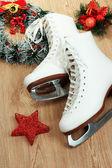 Figuur schaatsen op tabel close-up — Stockfoto