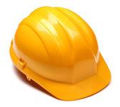 Yellow helmet isolated on white — Stock Photo