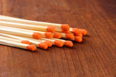 Long matches for fireplace — Stock Photo