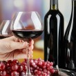 Wine tasting in restaurant — Stock Photo