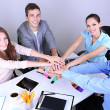 Business team working on their project together at office — Stock Photo #30116553
