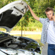 Mcalling repair service after car breakdown — Stock Photo #30118501