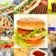 Collage of fast food — Stock Photo