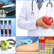Collage of medical images — Stock Photo #30236095