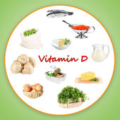 Food sources of vitamin D — Stock Photo