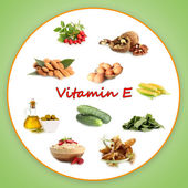 Food sources of vitamin E — Stock Photo