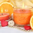 Romantic lighted candles close up — Stock Photo #30247349
