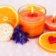 Romantic lighted candles close up — Stock Photo #30312249