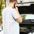 Mcalling repair service after car breakdown — Stock Photo #30314215