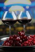 Wine tasting in restaurant — Stock Photo