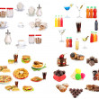 Stock Photo: Collage of different unhealthy food