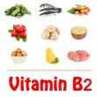 Stock Photo: Products which contain vitamin B2