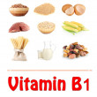 Products which contain vitamin B1 — Stock Photo #30402711
