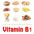 Stock Photo: Products which contain vitamin B1