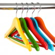 Colorful clothes hangers isolated on white — Stock Photo #30417601