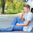 Mcalling repair service after car breakdown — Stock Photo #30417899