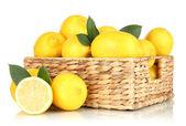 Ripe lemons isolated on white — Stock Photo